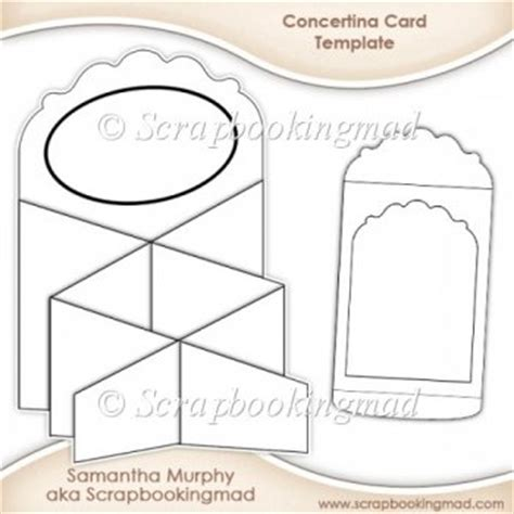 Credit Card Envelope Template Concertina Card Envelope Template Cu Ok 163 3 50 Instant Card Downloads