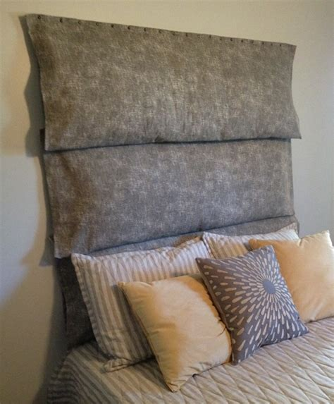 diy pillow headboard body pillow headboard diy decorating pinterest
