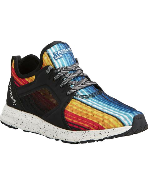 womens rainbow sneakers ariat s fuse rainbow stripe mesh shoes country