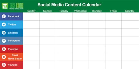Social Media Content Calendar 4 Reasons Why You Need A Social Media Content Calendar