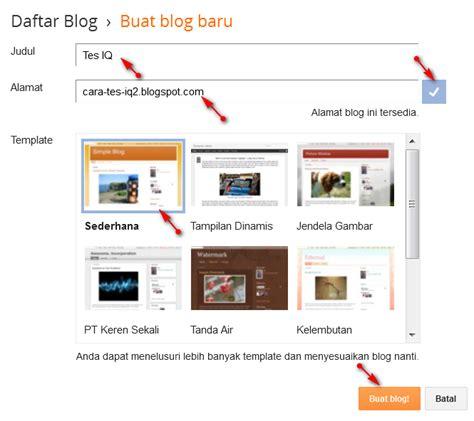 Cara Cepat Membuat Blog Gratis Di Blogspot Tanpa Ribet | cara cepat membuat blog gratis di blogspot tanpa ribet