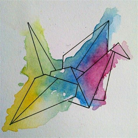 watercolor tattoo origami watercolor origami tattoos i origami