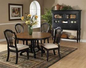 the circular dining room hillsdale wilshire round oval dining table rubbed black 4509 816 817 hillsdalefurnituremart com