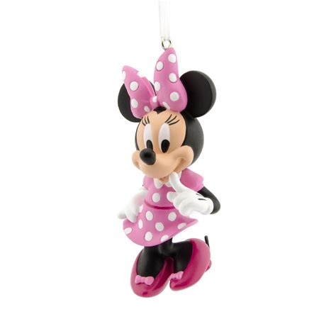 disney hallmark minnie mouse in pink christmas ornament
