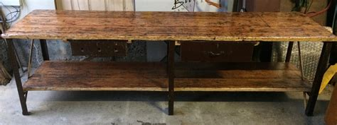 bench cafe industrial vintage timber rustic work bench cafe kitchen