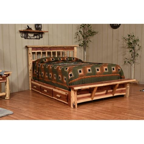 red cedar bedroom furniture country classic collection red cedar bed amish crafted