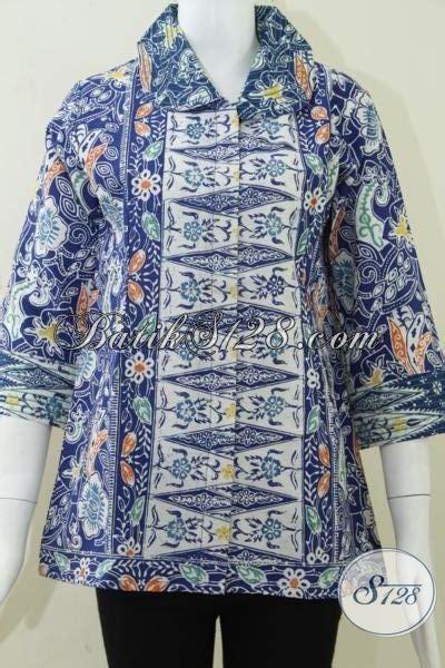 Baju Tidurpiyama Wanita Batik Flower Modern Celana Biru baju batik wanita warna biru elegan dan modern bls808c m toko batik 2018