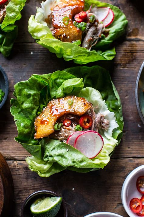 korean pineapple pork lettuce wraps  baked harvest