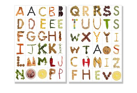 Printable Food Fonts | food font alphabet letters are available to print or use