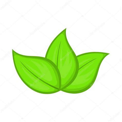 imagenes de hojas otoñales green leaves icon cartoon style stock vector