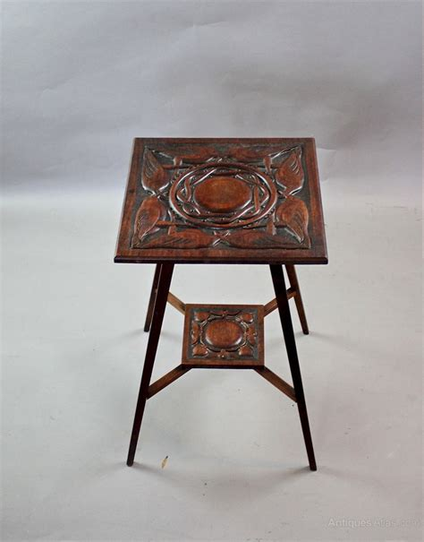 arts and crafts table with carved birds c1900 antiques atlas