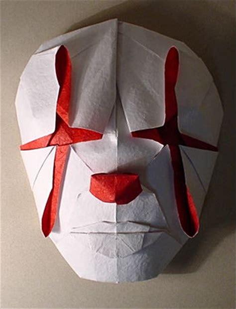 Origami Clown - origami library clown mask komatsu hideo
