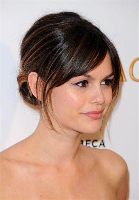 bangs hairstyles make up 22 best long haircuts with wispy bangs images on pinterest
