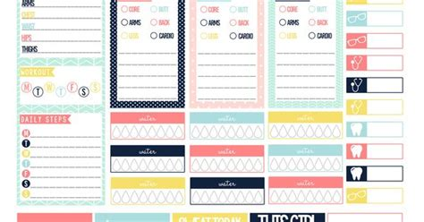 free printable planner pages classic size pastel fitness free printable planner stickers for the