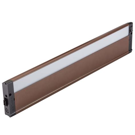 kichler led cabinet lighting kichler 4u27k22bzt textured bronze 22 quot led cabinet