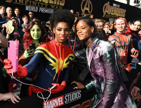 letitia wright vingadores letitia wright avengers infinity war premiere in la