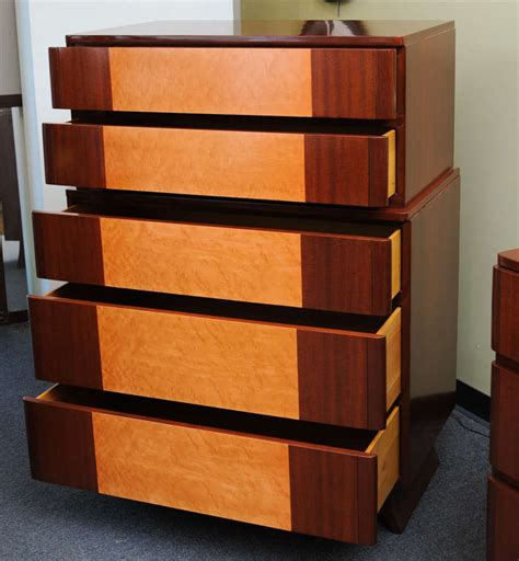 streamline moderne furniture 1940s streamline moderne highboy dresser by r way at 1stdibs