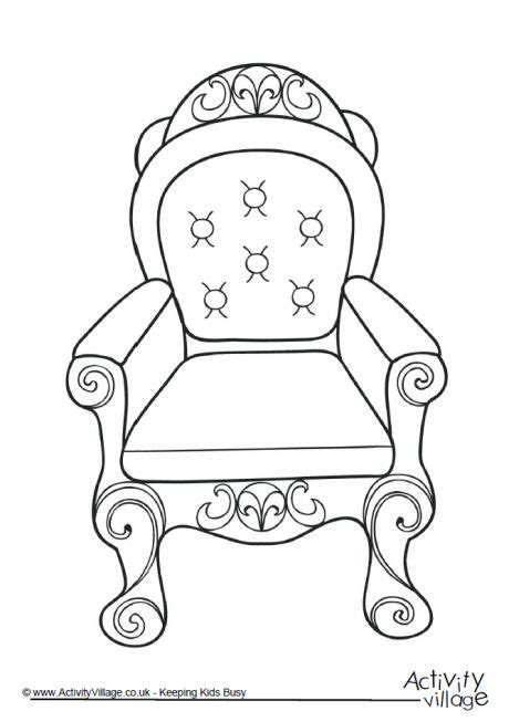 throne colouring page 2