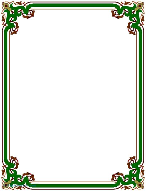 border images simple page border designs clipart best