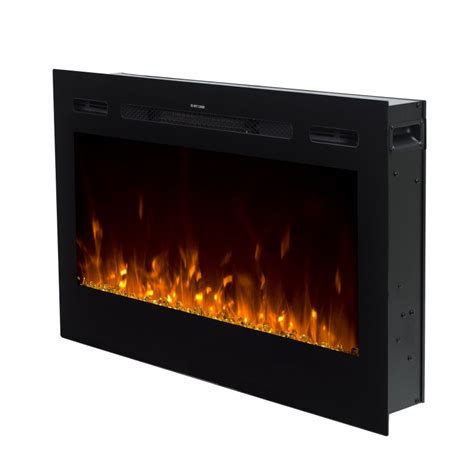 50 Electric In Wall Recessed Fireplace Heater by Recessed Wall Electric Fireplace 50 Black Built In