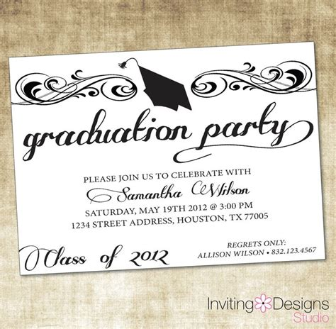 college graduation invitations templates 25 best ideas about graduation invitation wording on