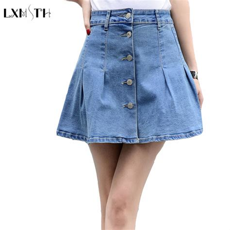denim mini skirt plus size promotion shop for promotional