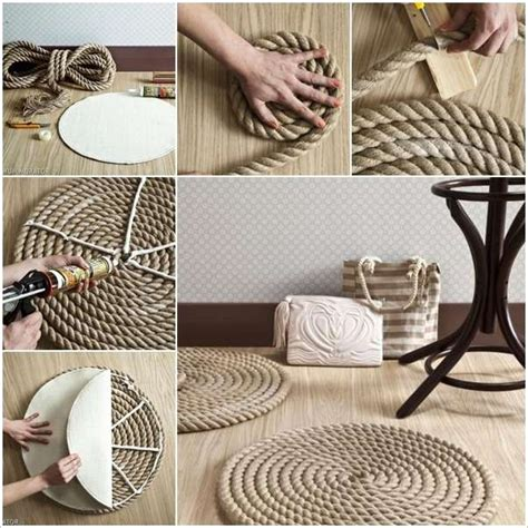 Diy Living Room Carpet Easy Rope Rug For A Nautical Touch In Your Living Room