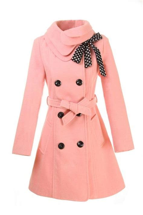 light pink pea coat object moved