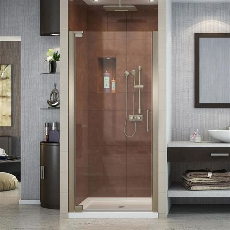 25 shower door shop dreamline elegance 25 25 in to 27 25 in frameless