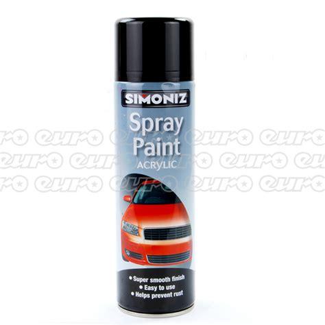 auto spray paint cans simoniz acrylic black 500ml aerosol high quality