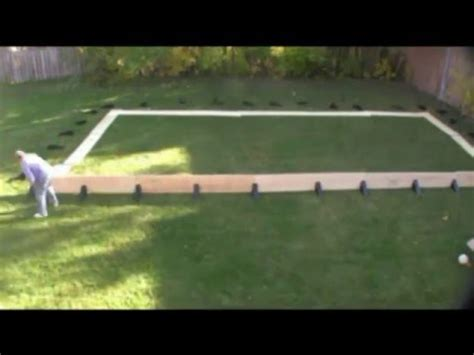 Building A Back Yard Ice Rink Youtube How To Build A Backyard Rink