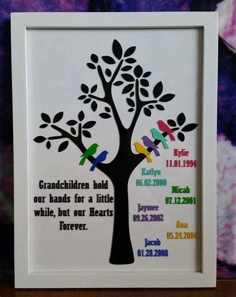 diy craft xmas gifts to make for grandparents family tree frame 9 quot x12 5 quot frame for the grandparents grandmothers great gifts