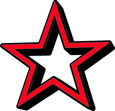 printable red star star clipart