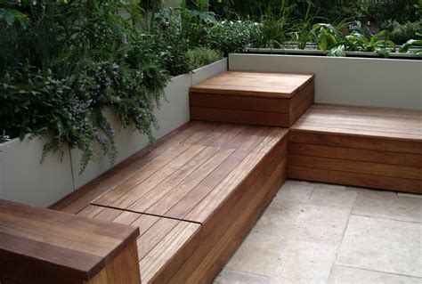 deck bench with storage creative deck storage ideas integrating storage to your