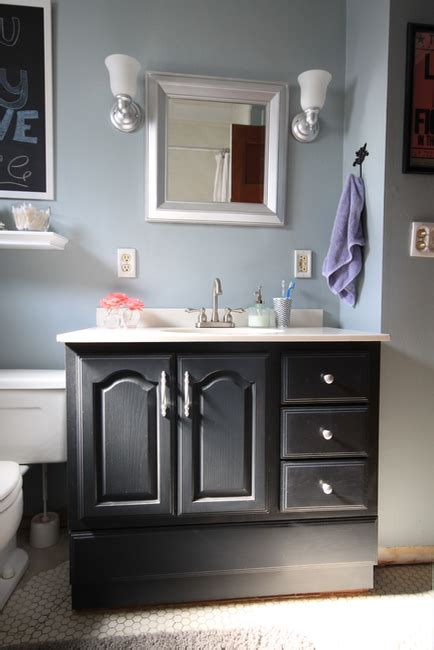 chalk paint in bathroom bathroom vanity makeover with chalk paint 187 decor adventures