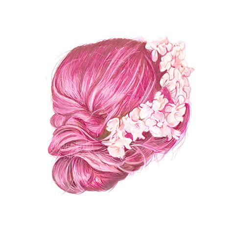 copic colored pencils pink hair copic marker and colored pencil drawing by