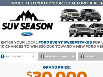 Ford Event Giveaway - the ford event sweepstakes