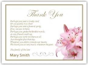 thank you card interesting thank you memorial cards personalized thank you cards for funeral