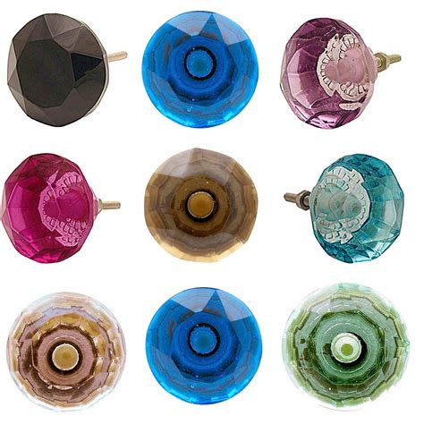 Coloured Glass Door Knobs by Superior Coloured Glass Door Knobs Faceted Vtg Furniture