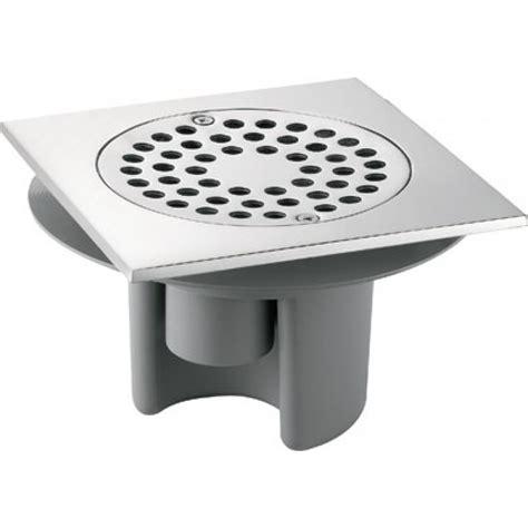 siphon de sol avec platine laiton et grille inox delabie bricozor
