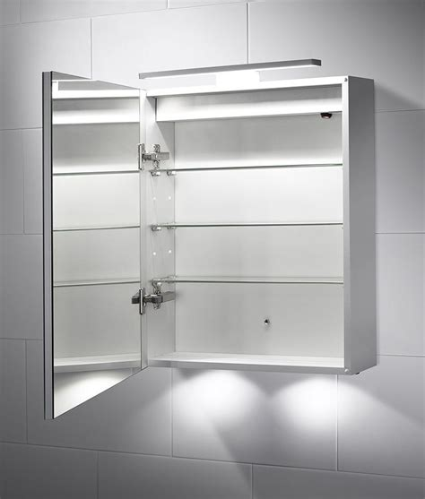 Bathroom Mirror Cabinet Light Led Bathroom Illuminated Cabinet With Mirror Light