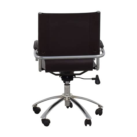 west elm desk chair 58 off west elm west elm brown leather swivel desk