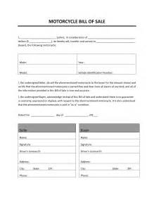 motorcycle bill of sale template motorcycle bill of sale free microsoft word templates