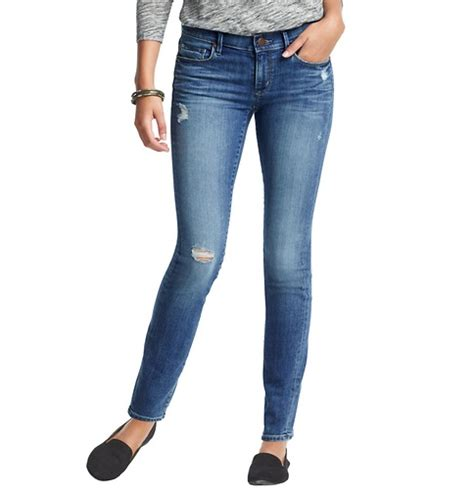 Buy Loft Gift Card - distressed modern skinny jeans in chilled blue wash loft