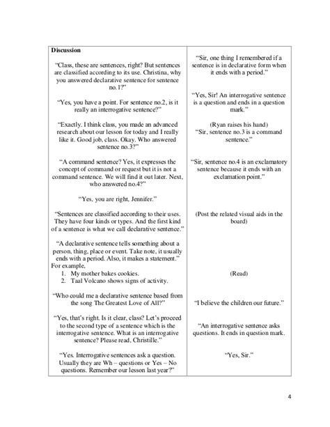 lesson plan sle high school english detailed lesson