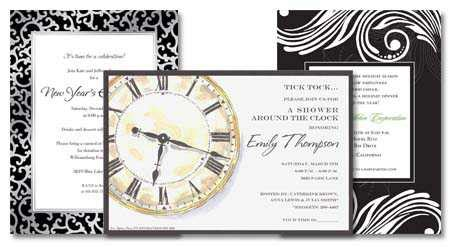 new end card template new year s invitations
