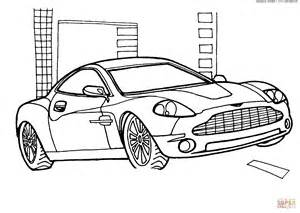 Aston Martin Coloring Pages Aston Martin V12 Vanquish Coloring Page Free Printable