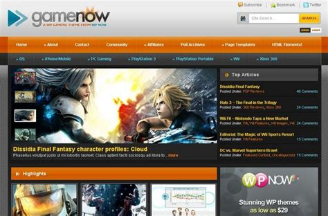free wordpress themes video games 20 free and premium wordpress themes for online games