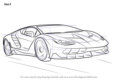 lamborghini sketch easy step by step how to draw lamborghini centenario