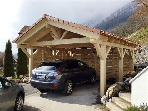 Carport Mit Satteldach by Erh 246 Hte Schneelast Carport Mit Satteldach Solarterrassen